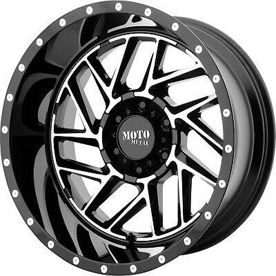 4- 20x10 Black Mo985 Breakout 5x5 -18 Wheels Open Country Rt 37x13.5x20 Tires