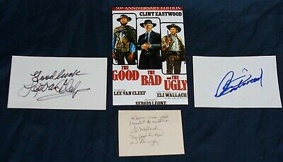 the good, the bad and the ugly cast autograph clint eastwood