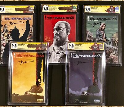 The Walking Dead 193 Sdcc Grand Finale Deluxe Set All 9.8 Cgc Ss 193,192,191 Hot