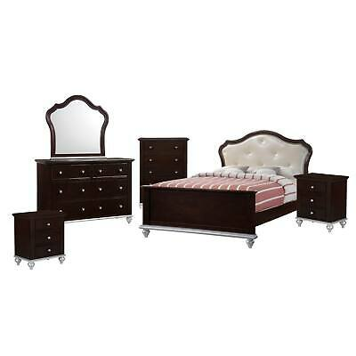 Picket House Furnishings Alli Full Platform 6pc Bedroom Set Brown Full