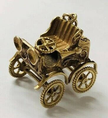 Massive Solid 9ct Gold Vintage Charm Motor Car Very High Quality Rare Beautiful