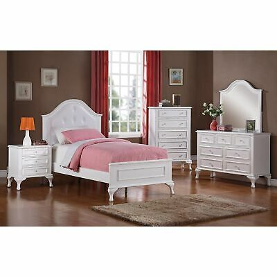 Picket House Furnishings Jenna Full Panel 5pc Bedroom Set White Full