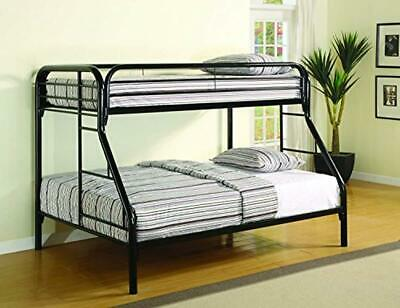 Morgan Twin Over Full Bunk Bed With Side Ladders Black