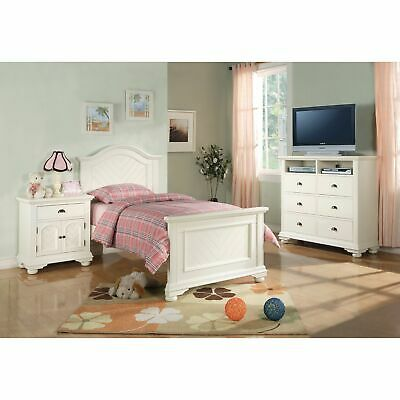 Picket House Furnishings Addison White Full Panel 3pc White Full