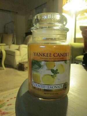 Lot Of 2 New & Rare Yankee Candle Country Lemonade 22 Ounce Jar Candles