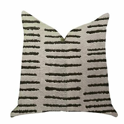 Plutus Poetry Lounge  Luxury Decorative Throw Pillow In Green, Beige Double Side