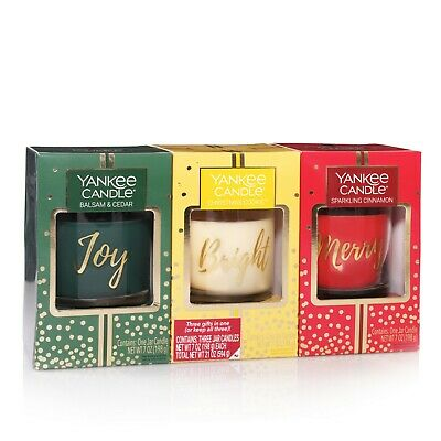 Yankee Candle Holiday- Small Jar Candle Trio
