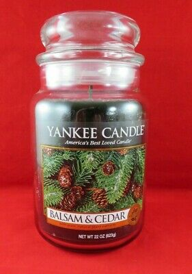 Yankee Candle Balsam And Cedar Jar Candle  22 Ounces Never Used!!