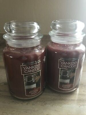 Yankee Candle Large Jar Candle, Kitchen Spice Lot Of 2 New