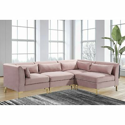 Chic Home Guison Modular Chaise Sectional Sofa With 6 Throw