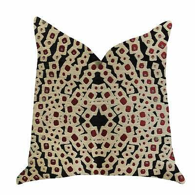 Plutus Scarlet Gem Luxury Decorative Throw Pillow In Red And Red, Black, Bronze
