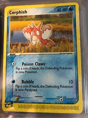 CORPHISH 52/97 EX Dragon Pokemon WOTC Card NM