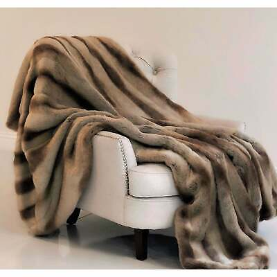 Plutus Sheared Faux Chinchilla Luxury Throw
