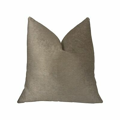 Plutus Café Au Lait Brown And Beige Luxury Throw Pillow