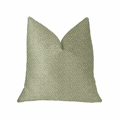 Plutus Alpine Maize Blue And Beige Luxury Throw Pillow