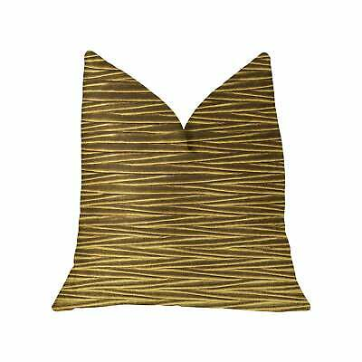Plutus Valentina Textured Bronze Luxury Throw Pillow