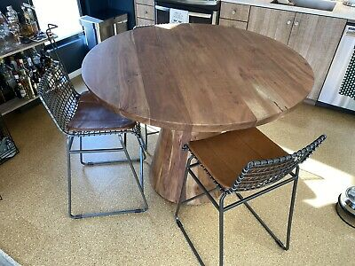 """Crate & Barrel Revolve 48"""" Round Adjustable Height Dining Table"""