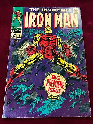 1968 Marvel The Invincible Iron Man #1 Origin Retold Fn/vf   (tt02)