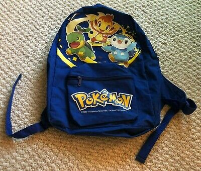 Pokemon Backpack Chimchar Turtwig Pinplup Blue Diamond and Pearl