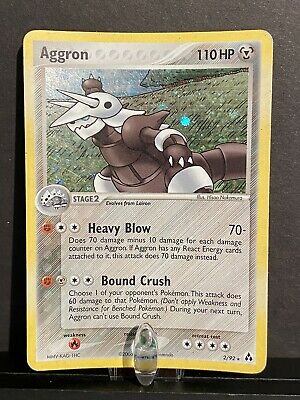 114 Pokemon Aggron (EX Legend Maker 2/92) - Rare Holo