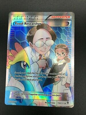 Fossil Researcher FULL ART Trainer 110/111 XY Furious Fists Pokemon NM HOLO