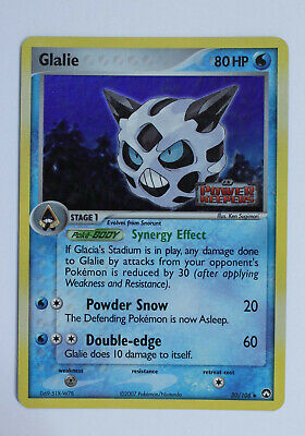 Glalie 30/108 EX Power Keepers Reverse Foil Pokemon Card LP