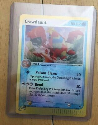 Crawdaunt Pokemon Card 13/97 EX Dragon Set Reverse Holo Rare Pokemon Card VLP