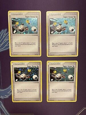 Pokemon Trainer Super Scoop Up Reverse Foil x4 - EX FireRed & LeafGreen NM/LP