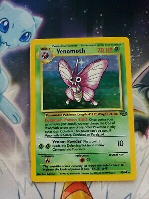 Venomoth 1999 Pokemon Game Jungle Set # 13/64 Rare Holo