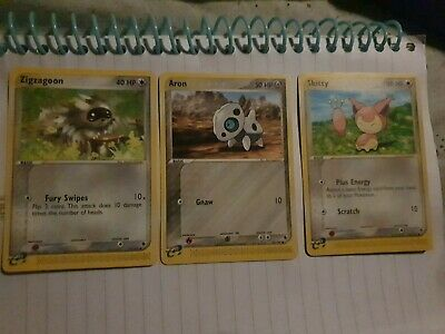 Zigzagoon aron skittles ex Ruby Sapphire pokemon cards very good condition 03