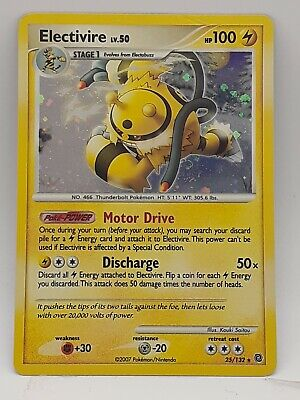 Electivire Holo Pokemon Card Diamond & Pearl Secret Wonders 25/132 NM