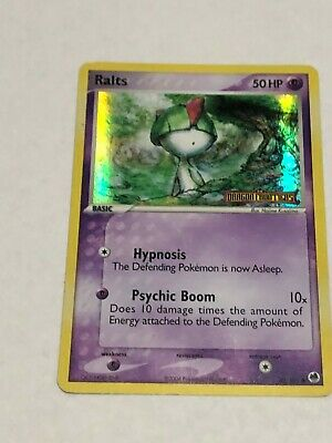 Pokemon Card Ralts Stamp Dragon Frontiers Holo LP 60/101