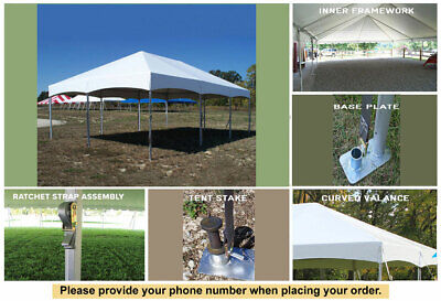 20x30 white vinyl master series frame tent wedding outdoors party catering