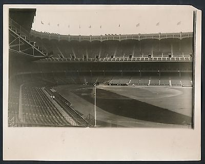 1927 Yankee Stadium Ready For Famous World Series Vintage Baseball Photo