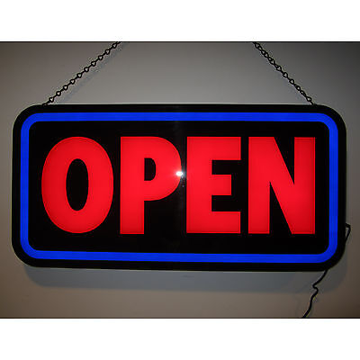 Wholesale Lot Of 50 Big New Led Open Sign For Business Rectangle Wall Opti Neon