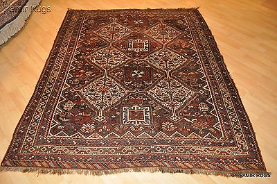 7x5 ft. antique persian qashqai afshar authentic tribal collectible pre 1900