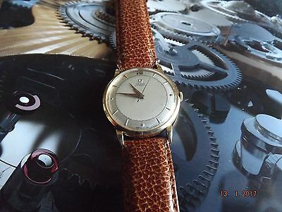 Omega 18ct Pink Gold Cased Bumper Automatic Cal 351 Vintage Watch,