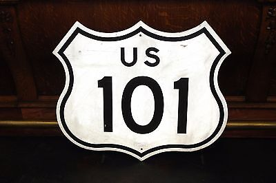 Original California Route Us 101 Road Reflective Highway Sign