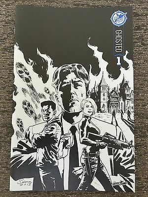 Ghosted 1 Skybound 5th Anniversary Sdcc Box Set B&w Sketch Exclusive