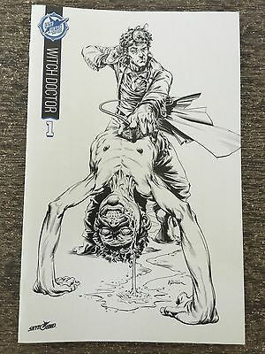Witch Doctor 1 Skybound 5th Anniversary Sdcc Box Set B&w Sketch Exclusive