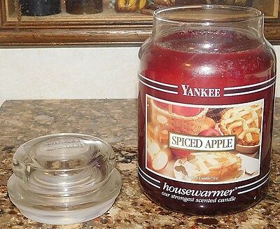 Yankee Candle 22 Oz Glass Jar Spiced Apple Very Rare Htf House Warmer New Unused