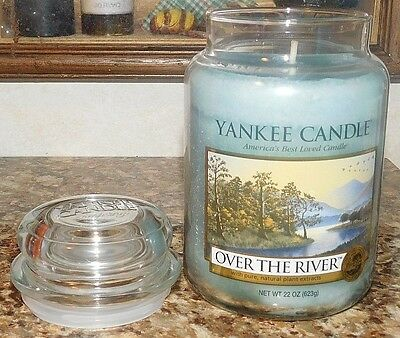 Yankee Candle Over The River Large 22 Oz. Glass Jar Scented House Warmer New