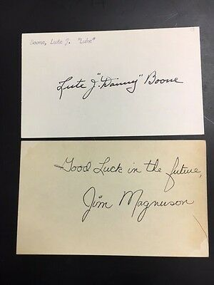 Lute Boone(d82) Ny Yankees/pirates Signed Index Card 1910-20 Debut Jsa Precert