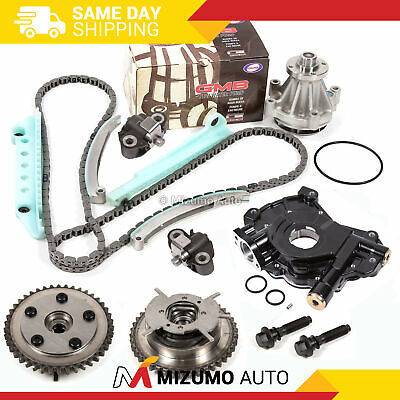 Timing Chain Kit Water Pump Cam Phaser Oil Pump Fit 05-10 Ford 4.6 Triton