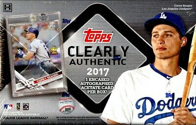 2017 Topps Clearly Authentic Baseball Hobby 20 Box Case Blowout Cards