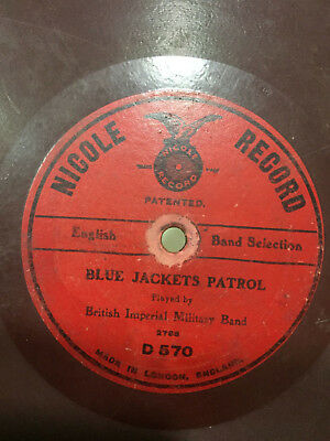 """british imperial military band march blue jacket patrol rare 78rpm record 10"""" g+"""
