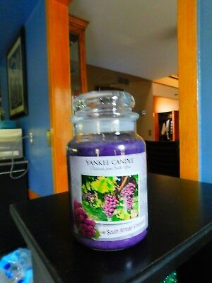 """Yankee Candle """"south African Vineyard"""" ~ White Label ~ Large 22 Oz.~new"""
