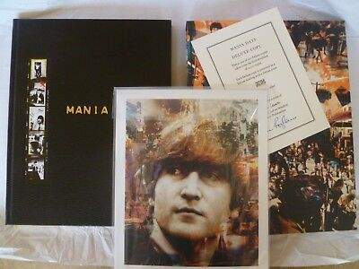 mania days deluxe genesis publications book signed beatles john lennon print
