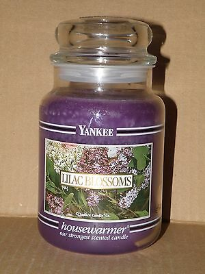 Lilac Blossoms Yankee Candle Rare Black Band Large 22 Oz Jar Candle  Brand New