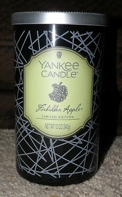 Yankee Candle Halloween Forbidden Apple Limited Edition Pillar Candle Nwts